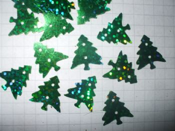 13g Bag of Green Christmas Tree Sequins